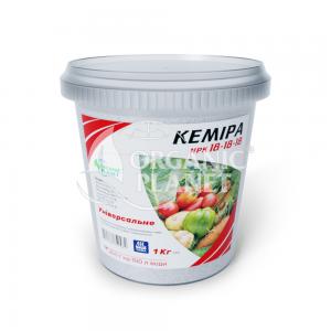 Кеміра Organic Planet, хелатне мінеральне добриво для позакореневого підживлення, NPK 18-18-18, 1 кг